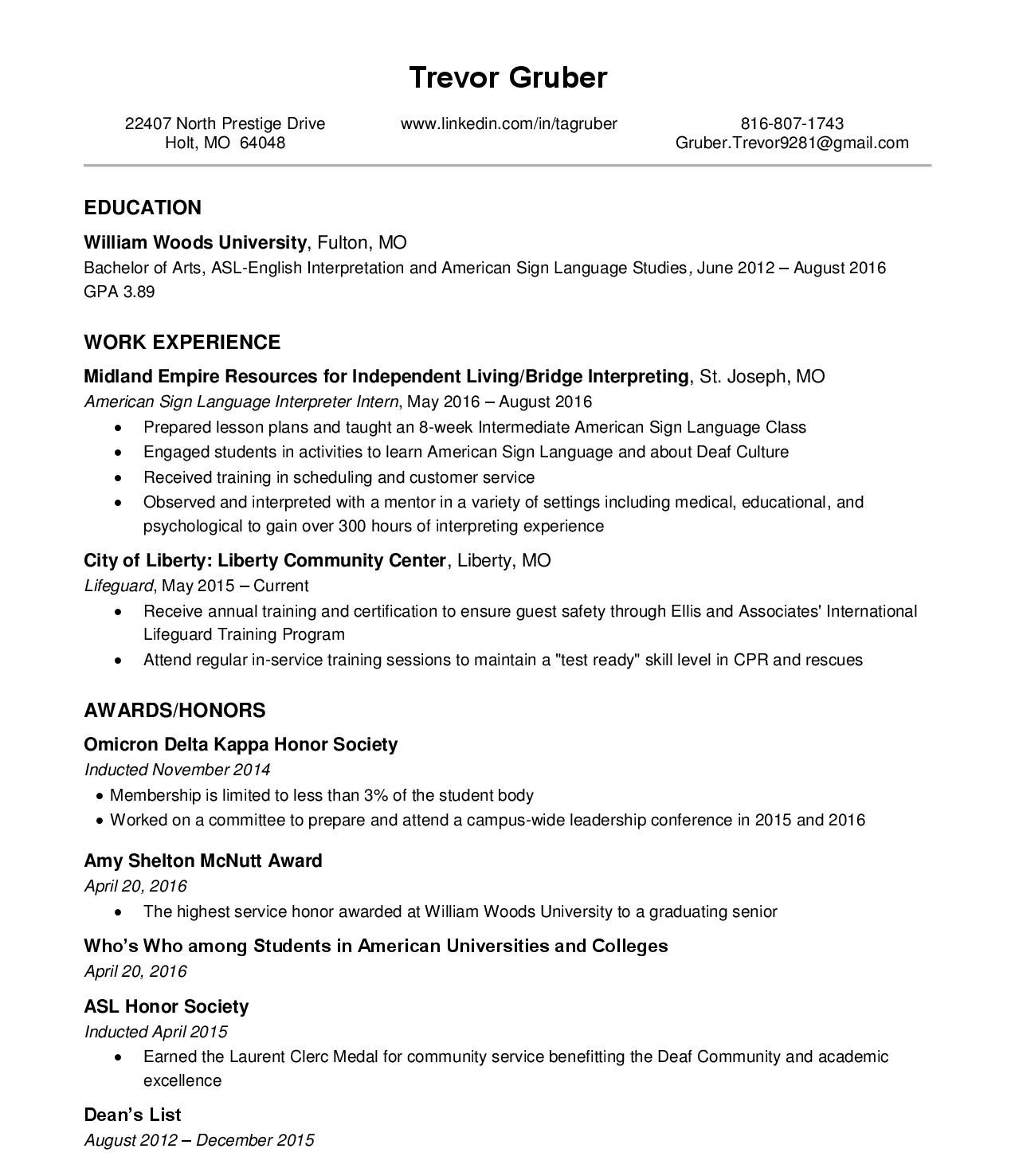 Resume and cover letter lesson plan
